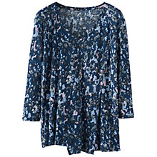 Buy Poetry Abstract Floral Top, Dark Blue Online at johnlewis.com