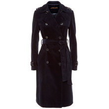 Buy Jaeger Corduroy Trench Coat, Midnight Online at johnlewis.com