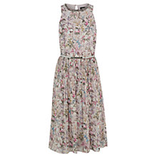 Buy Oasis V&A Forest Flower Dress, Multi Grey Online at johnlewis.com