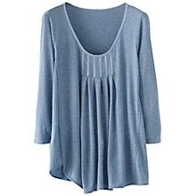Buy Poetry Box Pleats Jersey Top, Soft Blue Online at johnlewis.com