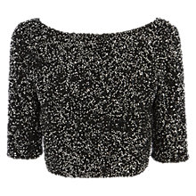 Buy Coast Dorianna Bead Top, Black Online at johnlewis.com