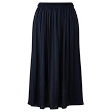 Buy Jigsaw Gathered Midi Skirt, Navy Online at johnlewis.com