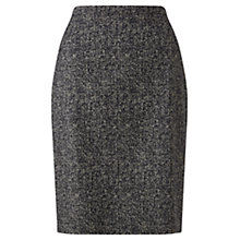Buy Jigsaw Tweed Jacquard Pencil Skirt, Black Online at johnlewis.com