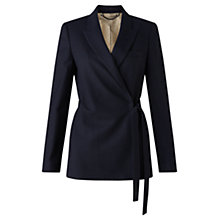 Buy Jigsaw Flannel Wrap Jacket, Navy Online at johnlewis.com