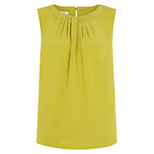 Buy Hobbs Silk Airlie Top, Acacia Green Online at johnlewis.com