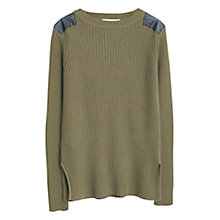 Buy Mango Ribbed Cotton-Blend Jumper Online at johnlewis.com