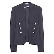 Buy Mango Double Breasted Blazer, Black Online at johnlewis.com