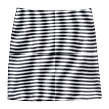 Buy Mango Houndstooth Skirt, Black Online at johnlewis.com