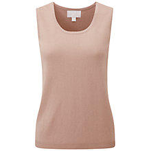 Buy Pure Collection Sackville Tank Top, Iced Mocha Online at johnlewis.com