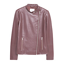 Buy Mango Zipped Biker Jacket Online at johnlewis.com
