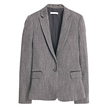 Buy Mango Textured Blazer, Medium Grey Online at johnlewis.com