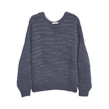 Buy Mango Open Knit Jumper, Dark Grey Online at johnlewis.com