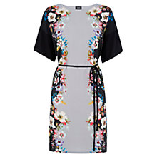 Buy Oasis V&A Saphire Dress, Multi/Black Online at johnlewis.com