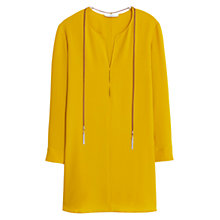 Buy Mango Textured Long Sleeve Dress, Yellow Online at johnlewis.com