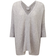 Buy Pure Collection Gassato Cashmere Poncho, Heather Dove Online at johnlewis.com