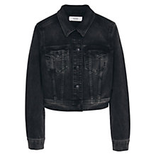 Buy Mango Dark Wash Denim Jacket, Open Grey Online at johnlewis.com