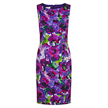 Buy Hobbs Watercolour Dress, Violet/Multi Online at johnlewis.com