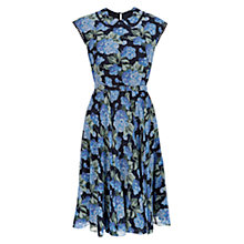 Buy Hobbs Florence Silk Dress, Navy Online at johnlewis.com