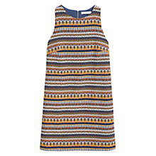 Buy Mango Textured Jacquard Dress, Dark Yellow Online at johnlewis.com