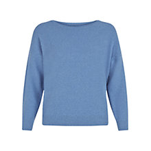 Buy Hobbs Coira Jumper, Marina Blue Online at johnlewis.com