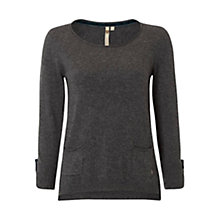 Buy White Stuff Barnie Knit Top, Coal Online at johnlewis.com