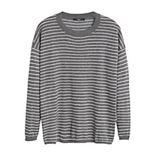 Buy Mango Striped Jumper, Medium Grey Online at johnlewis.com
