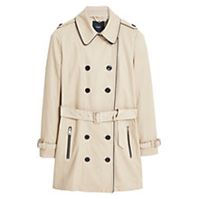 Buy Mango Cotton-Blend Trench Coat, Light Pastel Brown Online at johnlewis.com