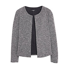 Buy Mango Cotton Blend Flecked Jacket, Grey Online at johnlewis.com