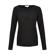 Buy Hobbs Elsie Jumper, Black/Green Online at johnlewis.com