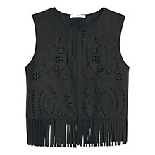 Buy Mango Openwork Gilet, Black Online at johnlewis.com