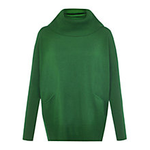 Buy Hobbs Sara Merino Wool Jumper, Evergreen Online at johnlewis.com