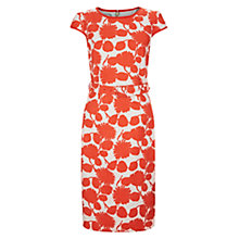 Buy Hobbs Jessie Dress, Natural Hot Red Online at johnlewis.com