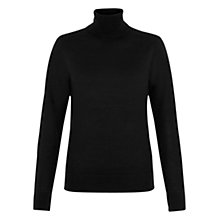 Buy Hobbs Lara Roll Neck Jumper, Navy Online at johnlewis.com