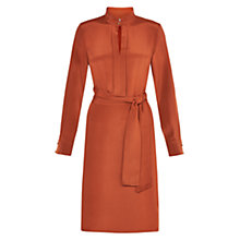 Buy Hobbs Angie Silk Dress, Rust Online at johnlewis.com
