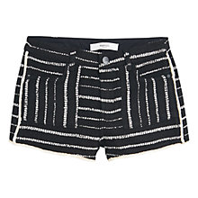 Buy Mango Jacquard Shorts, Black Online at johnlewis.com