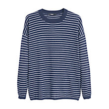 Buy Mango Striped Jumper, Navy Online at johnlewis.com