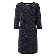 Buy White Stuff Printed Heart Jacquard Dress, Midnight Mauve Online at johnlewis.com