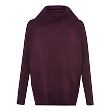 Buy Hobbs Sara Wool Jumper, Plum Online at johnlewis.com