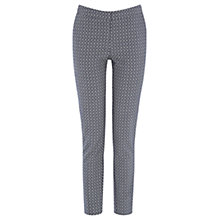 Buy Warehouse Pattern Geometric Diamond Trousers, Blue Online at johnlewis.com