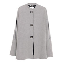 Buy Mango Houndstooth Pattern Cape, Black Online at johnlewis.com