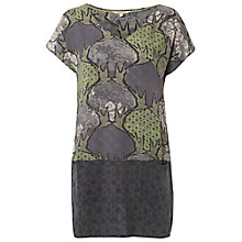 Buy White Stuff Rhodes Bird Tunic, Dark Oyster Blue Online at johnlewis.com