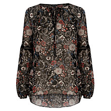 Buy Warehouse Tie Neck Gypsy Blouse, Multi Online at johnlewis.com