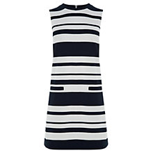 Buy Warehouse Textured Stripe Dress, Blue Multi Online at johnlewis.com