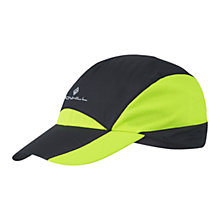 Buy Ronhill Windlite Running Cap, Black/Yellow Online at johnlewis.com