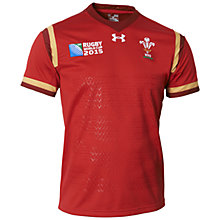Buy Under Armour Wales Rugby World Cup 2015 Rugby Shirt, Red Online at johnlewis.com