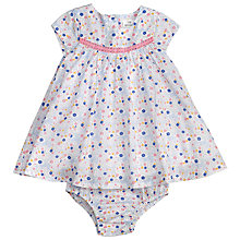 Buy John Lewis Baby Ditsy Floral Print Dress and Knickers, Blue Online at johnlewis.com