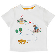 Buy John Lewis Baby Zoo Map T-Shirt, White Online at johnlewis.com