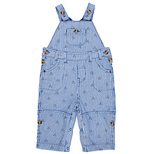 Buy John Lewis Baby Anchor Print Dungarees, Blue Online at johnlewis.com