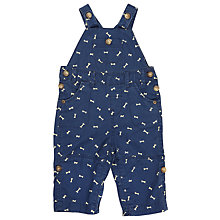 Buy John Lewis Baby Bone Print Dungarees, Blue Online at johnlewis.com