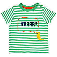 Buy John Lewis Baby Roar Stripe T-Shirt, Green Online at johnlewis.com